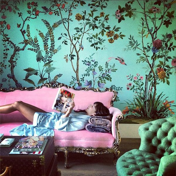 Spring indicates chinoiserie inspired by DeGournay 2015 interior 600x600
