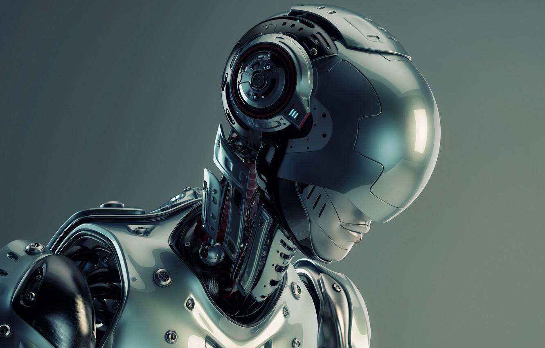 Wallpaper cyborg head pearls humanoid robot images for desktop 1332x850