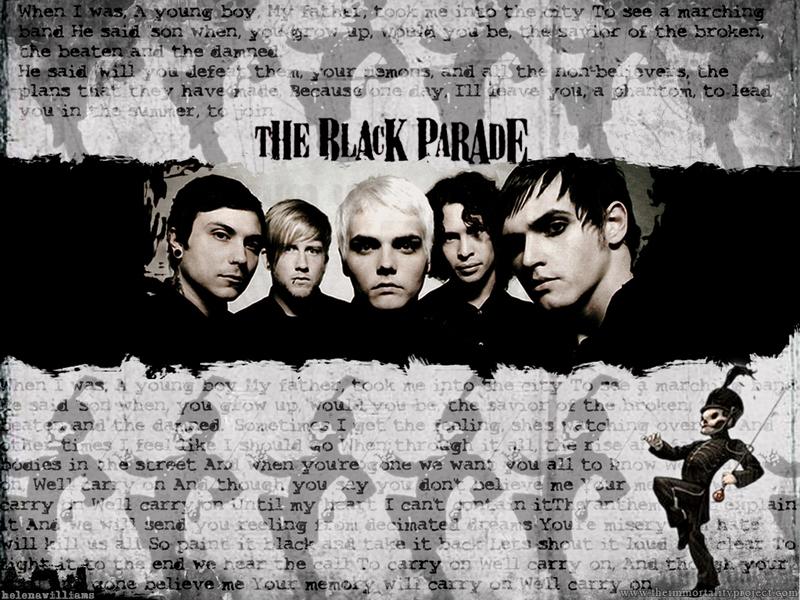 Black Parade wall   My Chemical Romance Wallpaper 411134 800x600