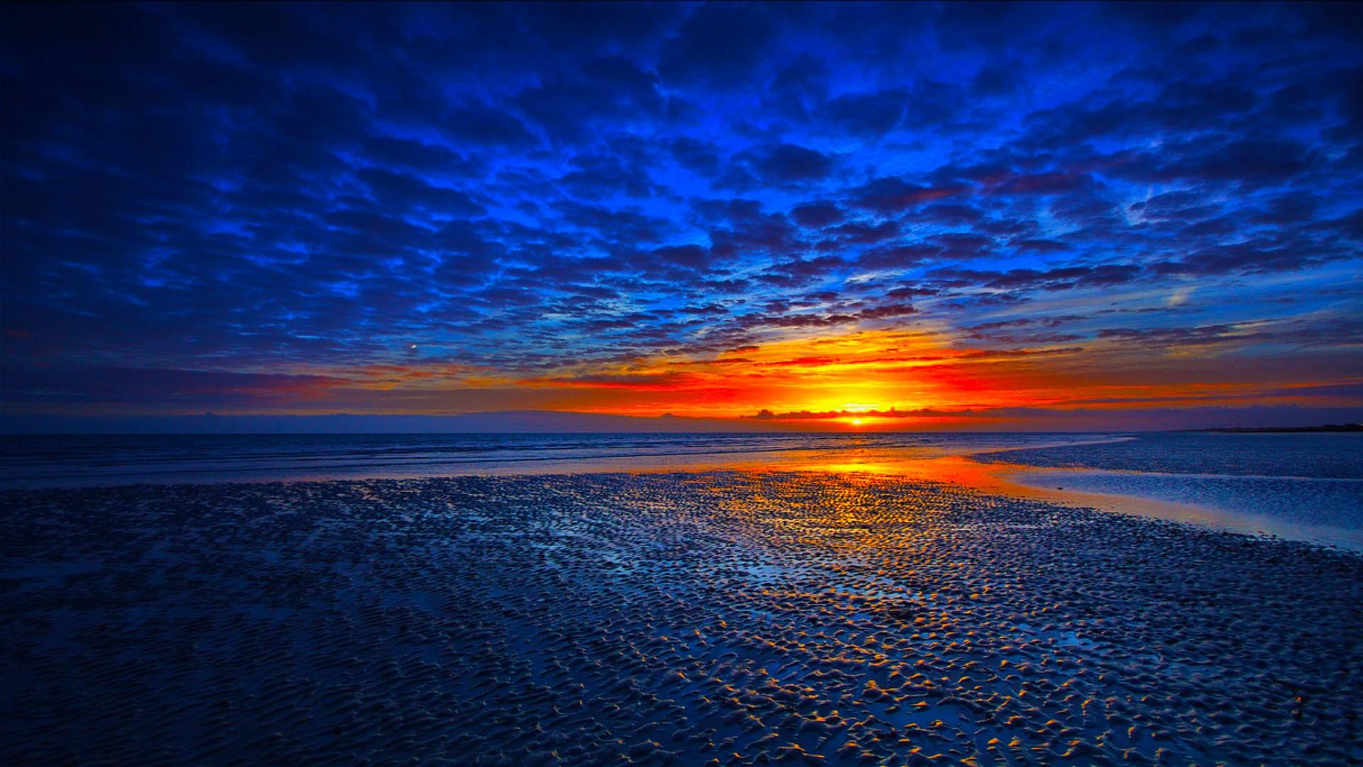 1080p blue sunset background wallpaper hd 1920x1080 1080p ...