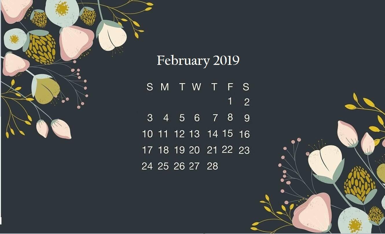 Free Download Black Floral February 2019 Desktop Calendar Wallpaper Wallpaper 1330x808 For Your Desktop Mobile Tablet Explore 55 Wallpaper For Pc Laptop Free Wallpaper For Laptop Cute Wallpapers For