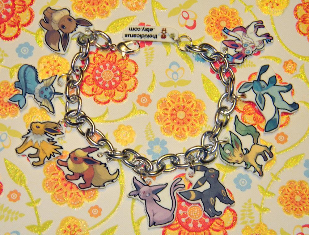 Updated Eevee Evolution Charm Bracelet Pokemon by kouweechi on 1000x761