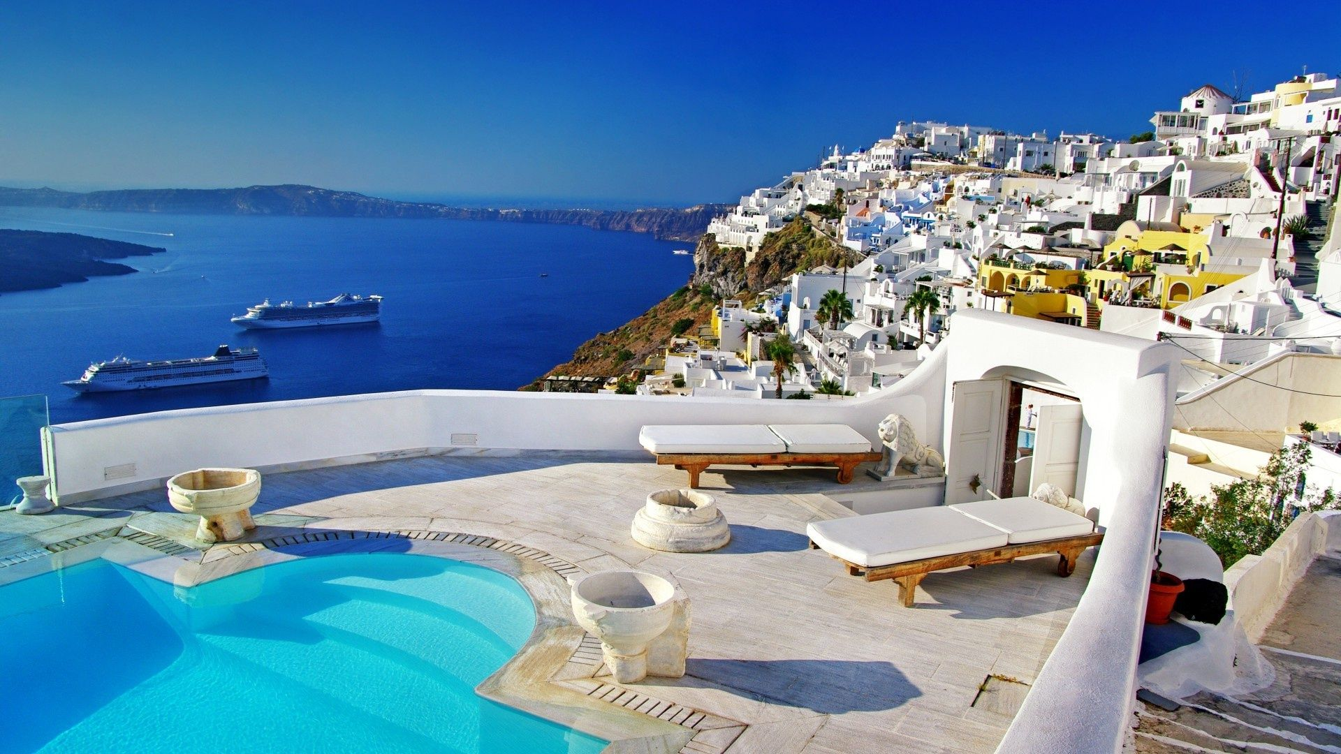 Pin by Tasos Perte Tzortzis on HELLAS Santorini greece 1920x1080