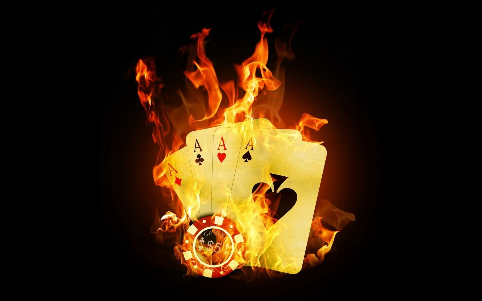 Dark Black Fire Playing Cards Ace HD Wallpapers Picture For PC Desktop 1600x1000