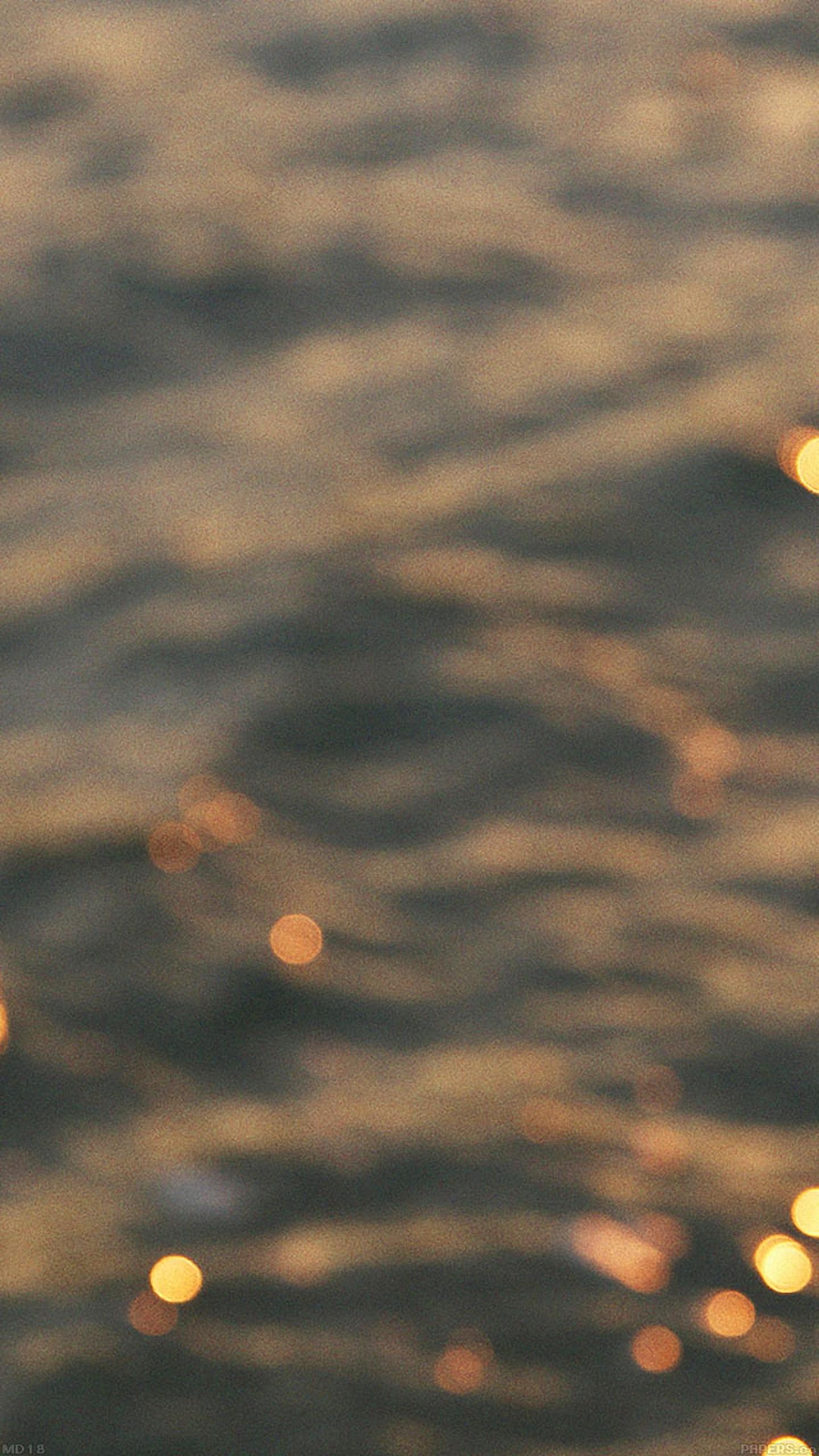 download night lake golden bokeh blur wallpaper for lg phone 1440x2560