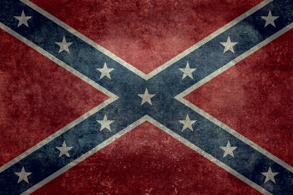 Confederate flag Vintage version Art Print by LonestarDesigns2020 600x400