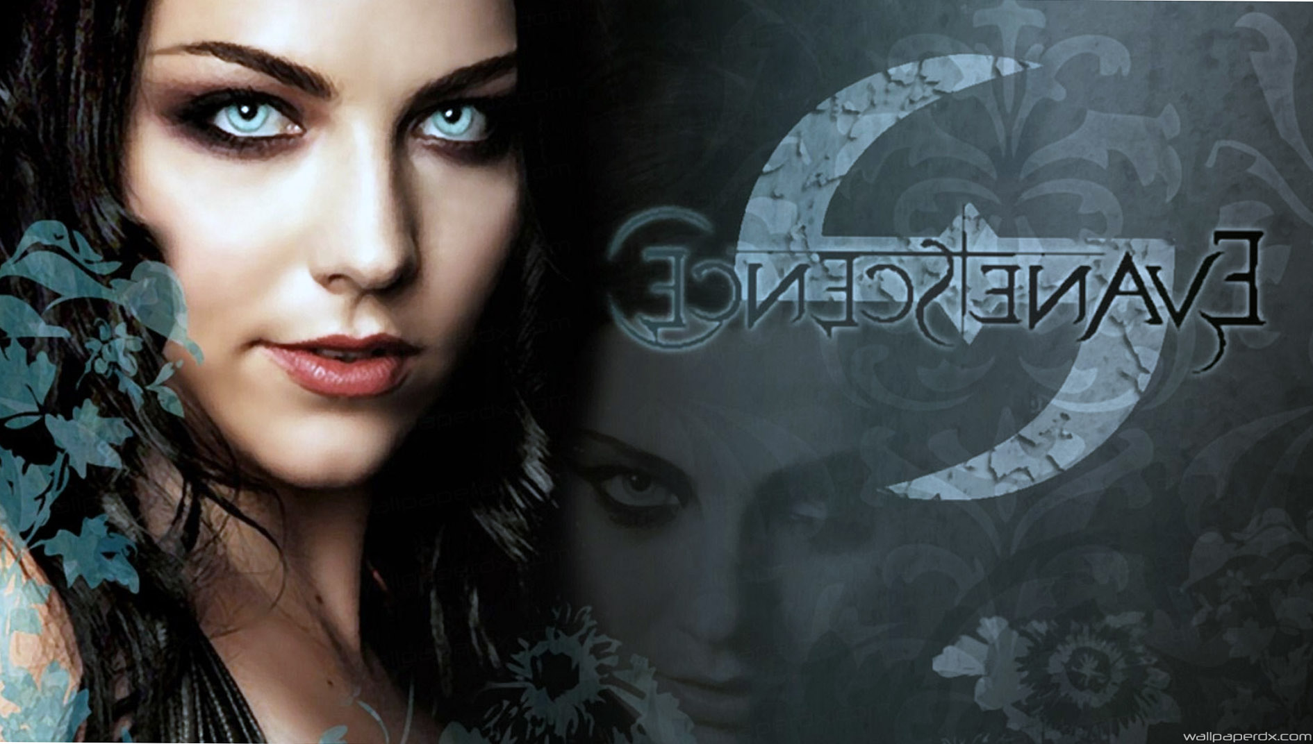 evanescence letters face hair eyes hd wallpaper   Full Hd 1890x1072