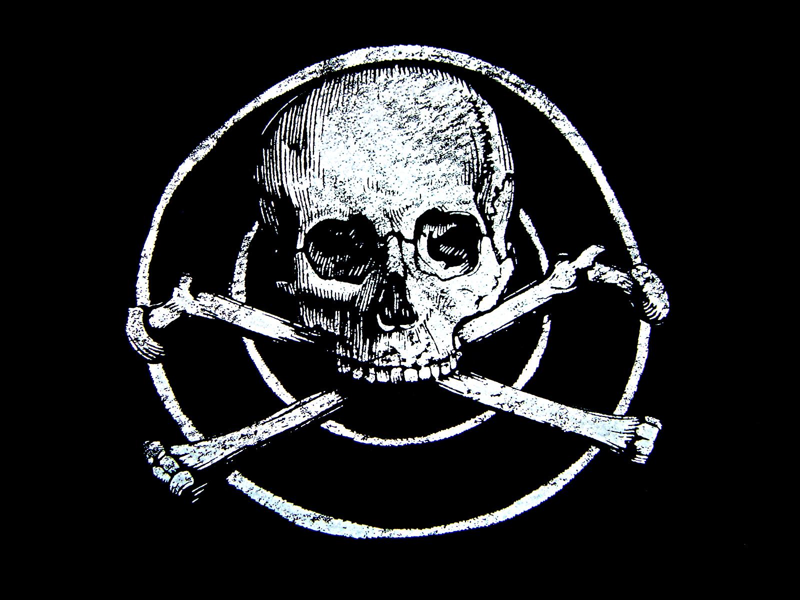 Skull And Bones Wallpaper: Black Skull Background