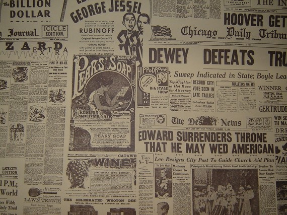 Newsprint wallpaper Dream Home Pinterest 570x427