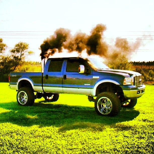 smoking power stroke   Diesel Truck Gallery 612x612