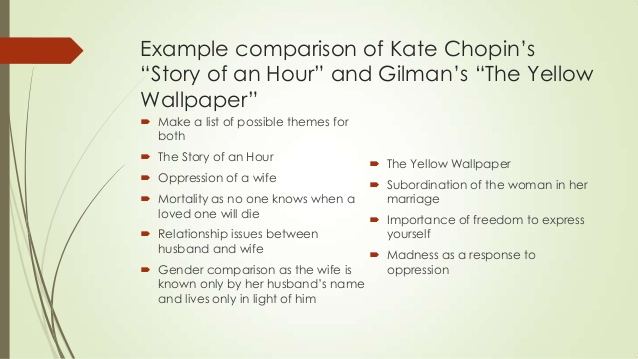 an analysis of the story the yellow wallpaper This lesson, the first part of a two-parter, helps to set the historical, social, cultural, and economic context of charlotte perkins gilman's story the yellow wall-paper written during.
