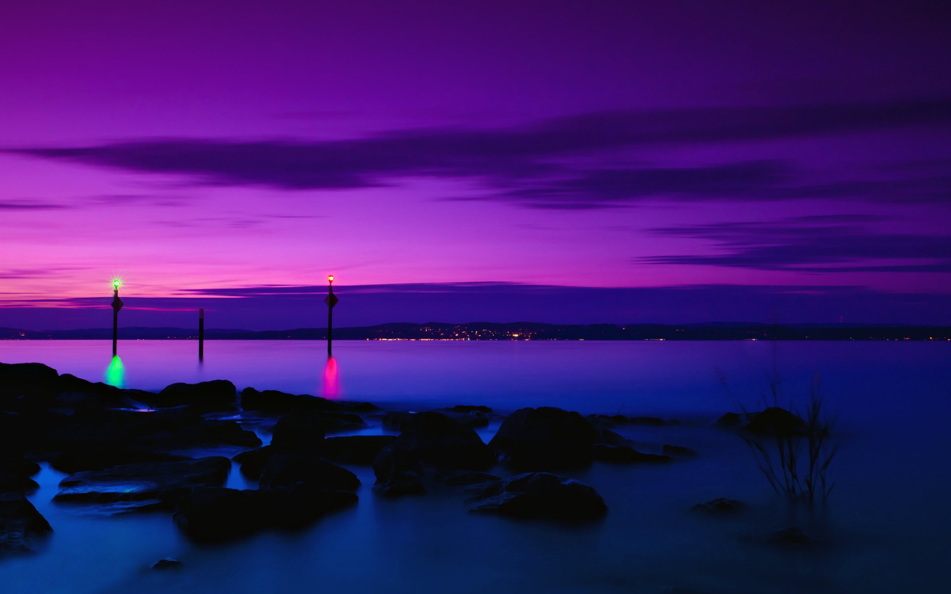 Purple Sunset Wallpaper 23196 1920x1200 px ~ HDWallSource.com