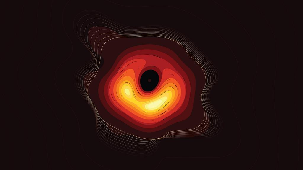 4K OLED Wallpaper Of The M87 Black Hole Wallpapers Genuine Regular 1024x576