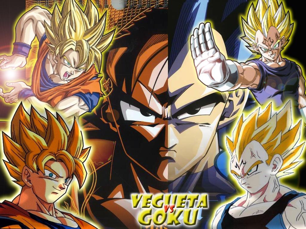 Goku vs Vegeta Fondos de escritorio wallpapers fondos de pantalla 1024x768