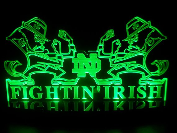 Notre Dame Fighting Irish Led Desk Lamp Night Light Bedroom Game Room 570x428