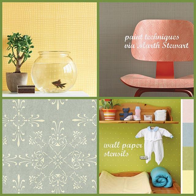 Wallpaper Stencils Paint Techniques Home Decoratin Pinterest 640x640