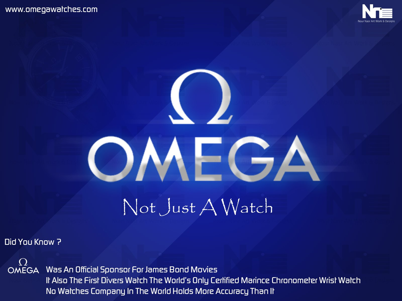 Omega Watches Wallpaper Advertise by NourNasr 1600x1200