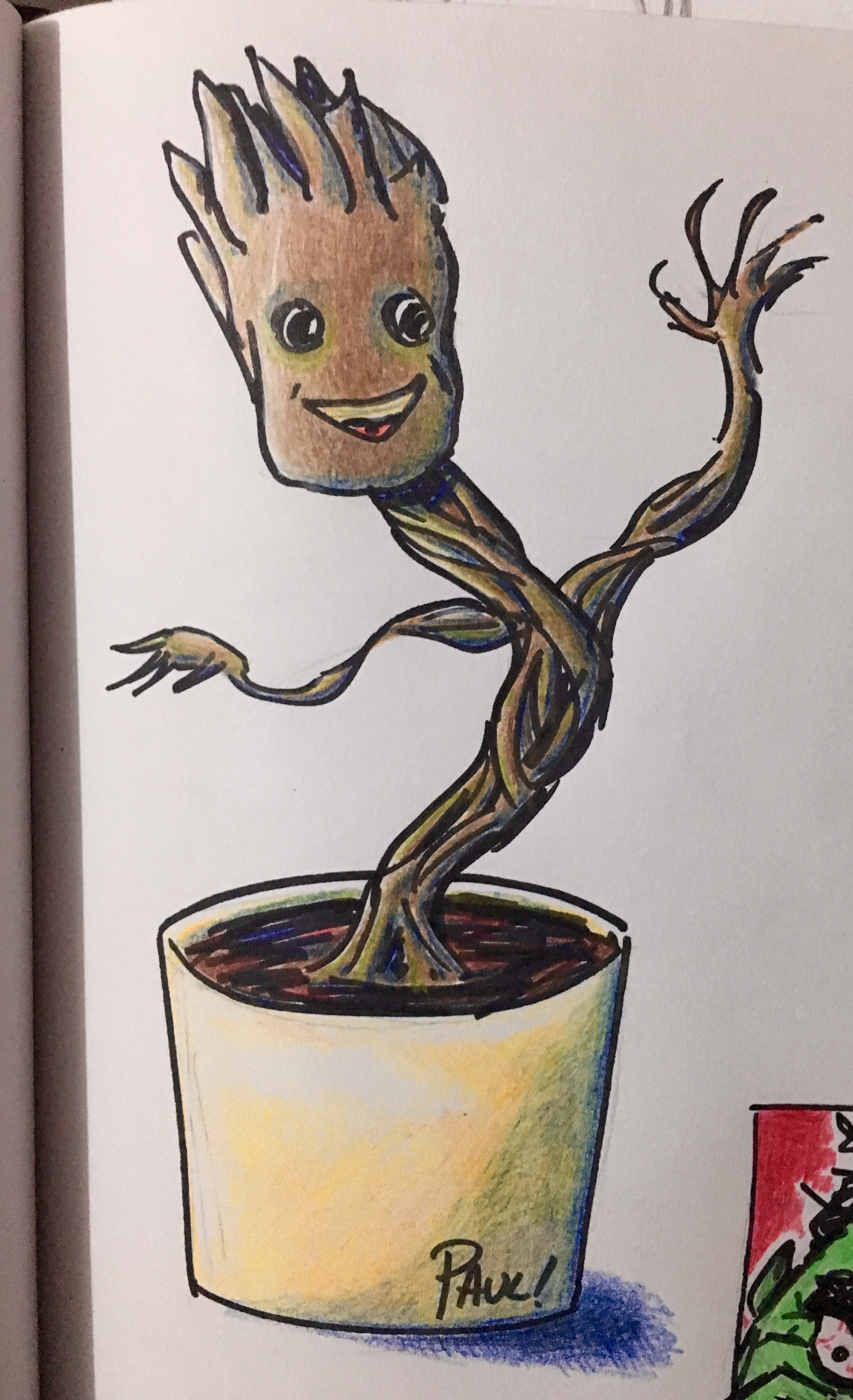 Baby Groot Drawing 2391x3924