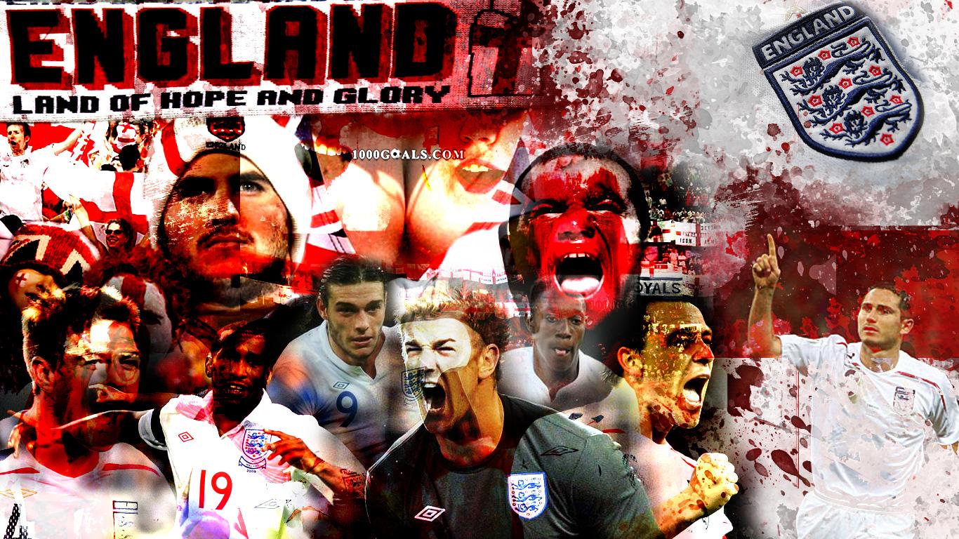 Euro 2012 England national team wallpaper 2 Football   1000 Goals 1366x768