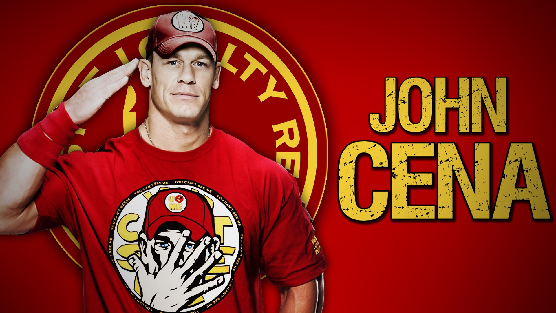 Wallpaper of John Cena Wrestler Rapper Actor WWE background 1920x1080