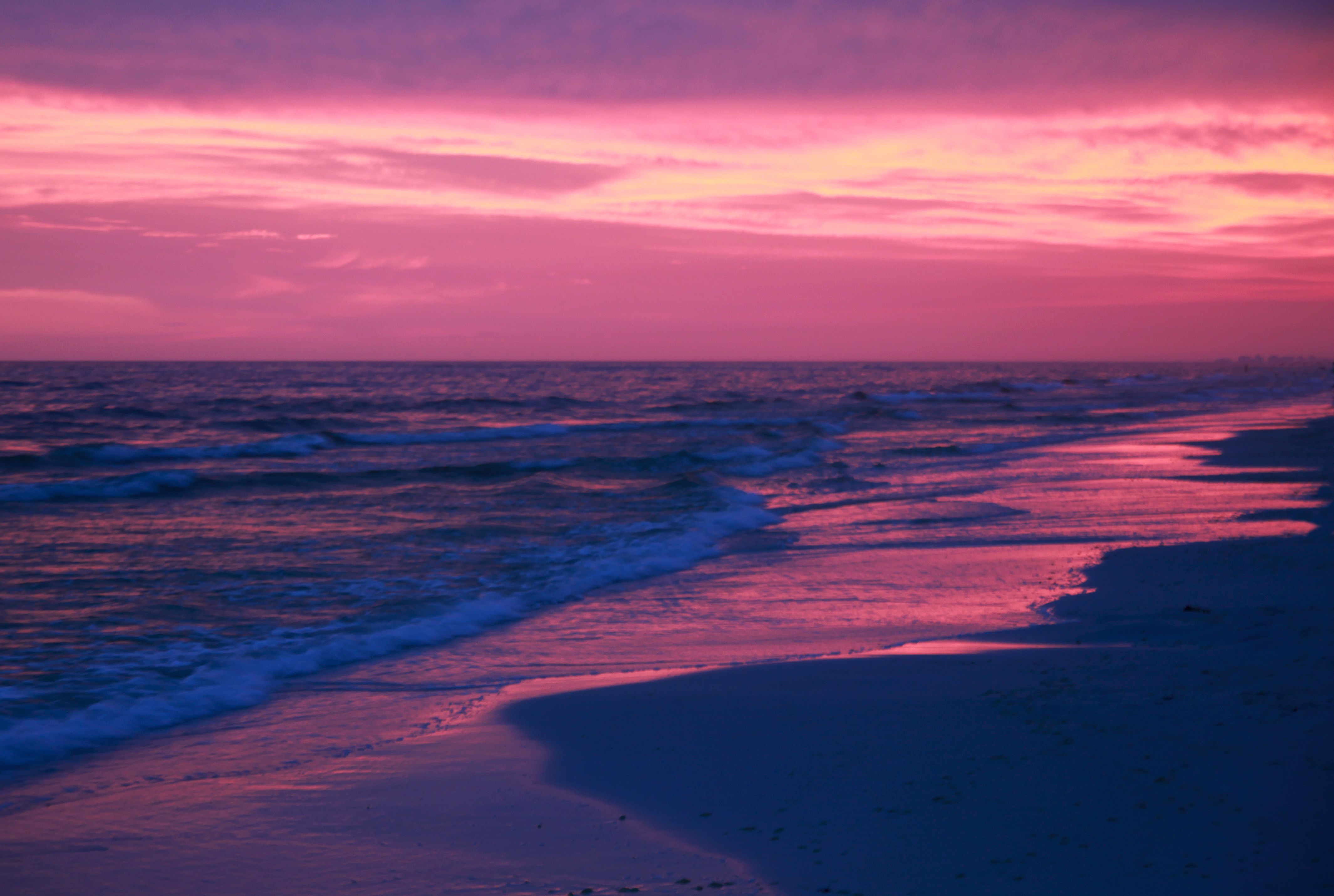 Beach Sunset Backgrounds Tumblr: Pink Beach Sunset Wallpaper