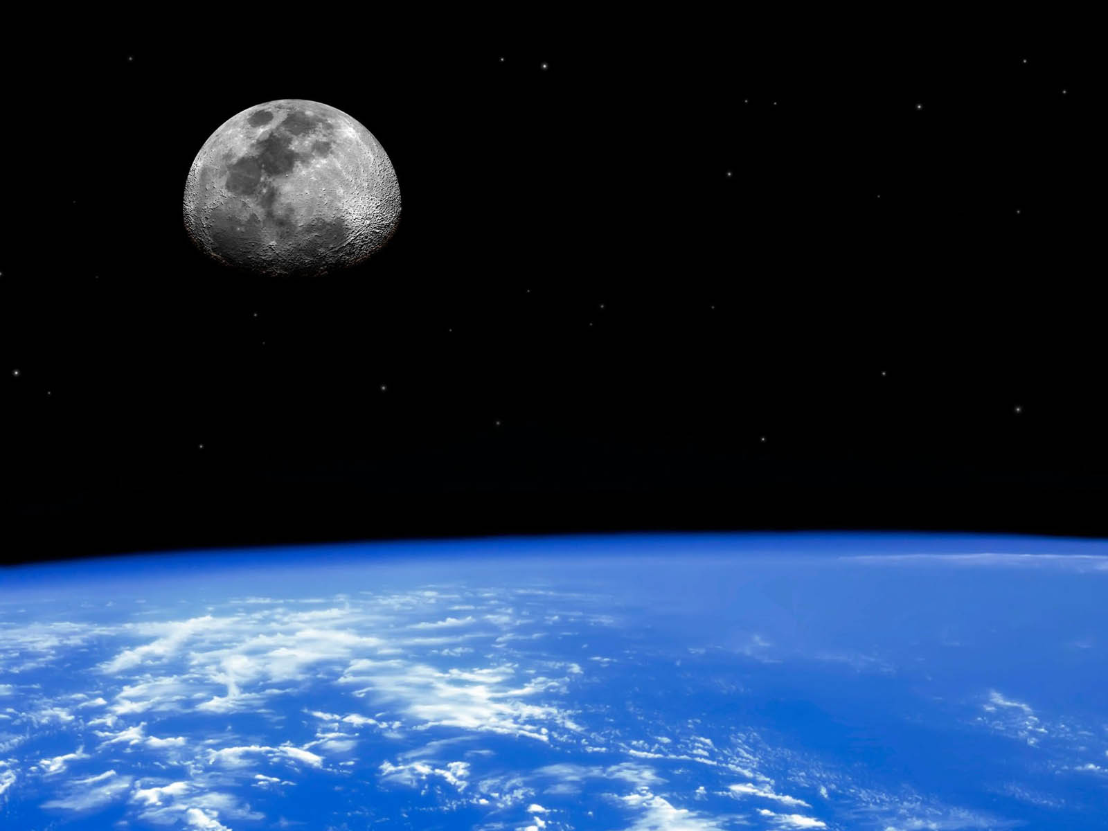 Earth And Moon Wallpapers EarthAnd Moon Desktop Wallpapers Earth 1600x1200