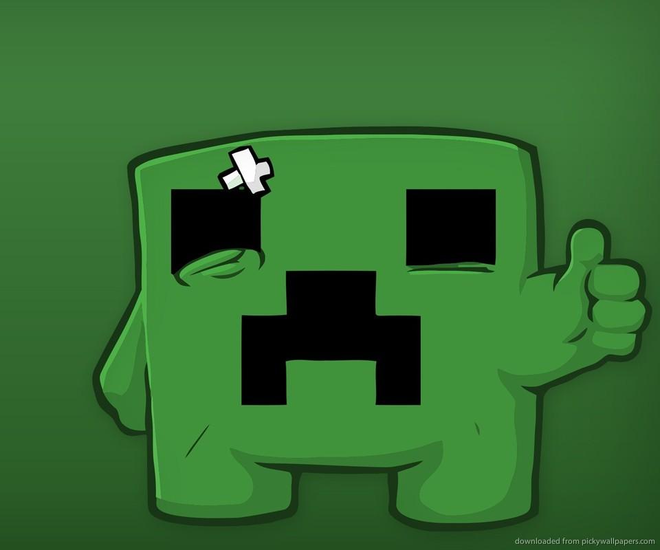 Download Sad Minecraft Creeper Wallpaper For Samsung Epic 960x800
