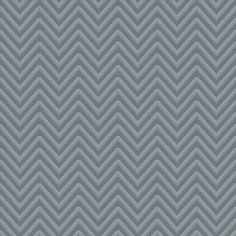 Bellona Textured Chevron Wallpaper in Blue and Metallic by BD Wall 800x800