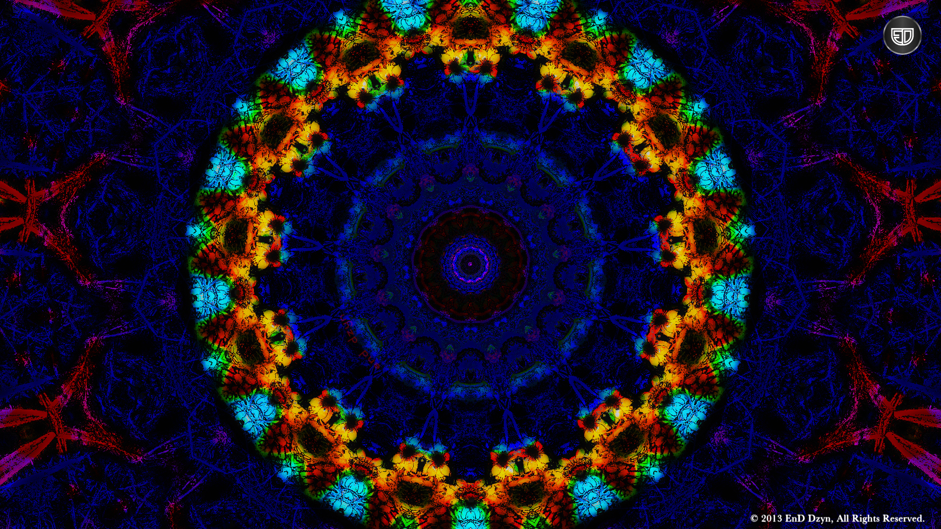 HD Background Wallpaper Red Blue Trippy 3D Psychedelic HD 1920x1080