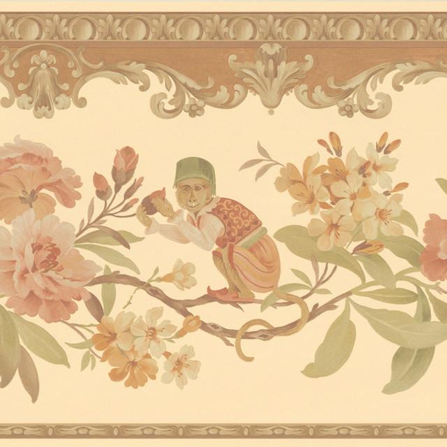 Light Brown Monkey Floral 640x640
