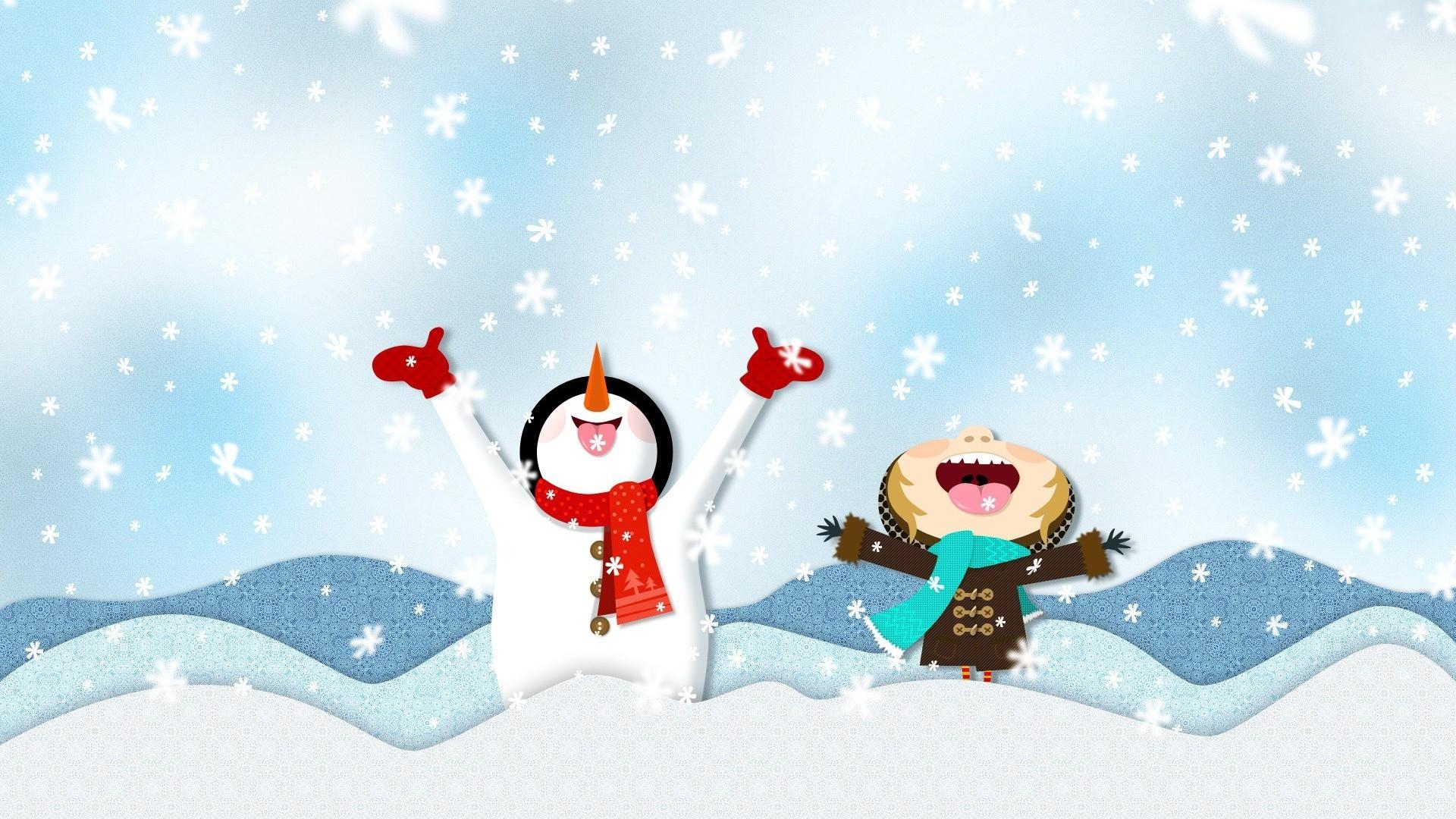 Best Winter Snow Cartoon HD Wallpaper of Winter   hdwallpaper2013com 1920x1080