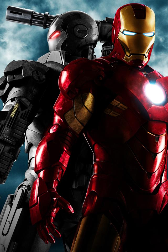 Iron Man and War Machine iPhone Wallpaper Download iPhone 640x960