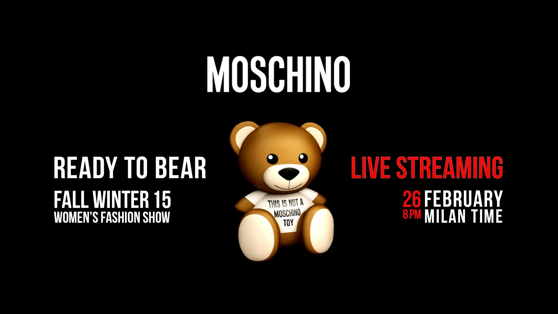 MOSCHINO FALL WINTER 2015 WOMENS FASHION SHOW LIVE STREAMING 1920x1080