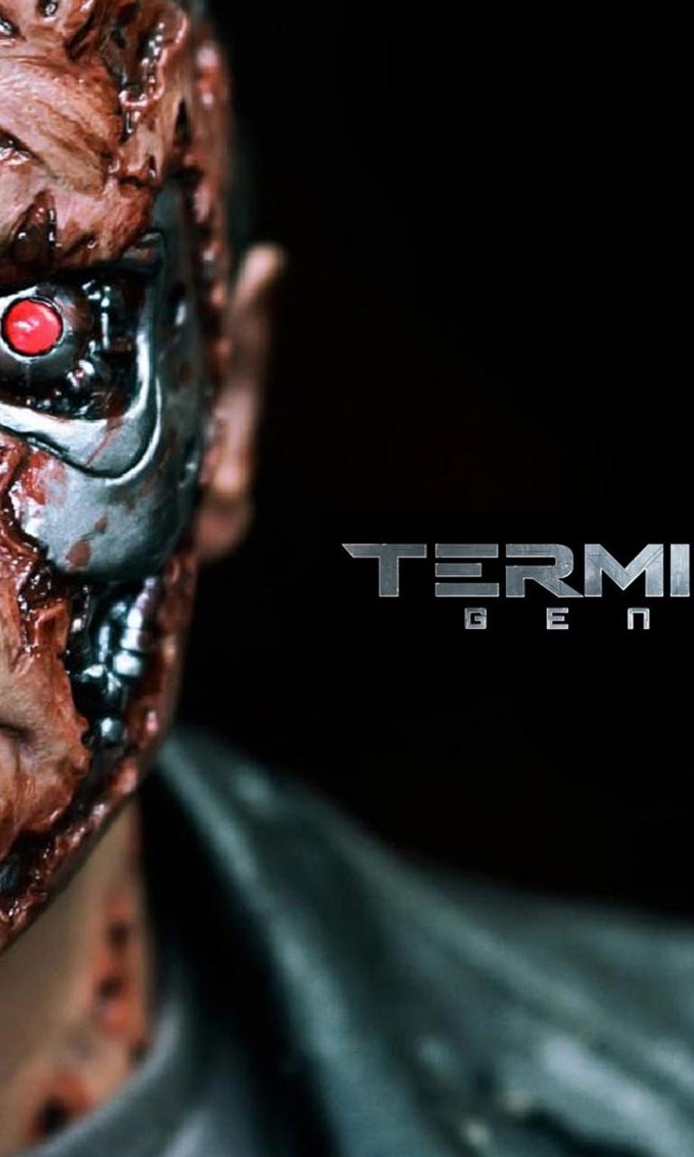 download Wallpaper 768x1280 Terminator Genisys new 2015 movie 768x1280