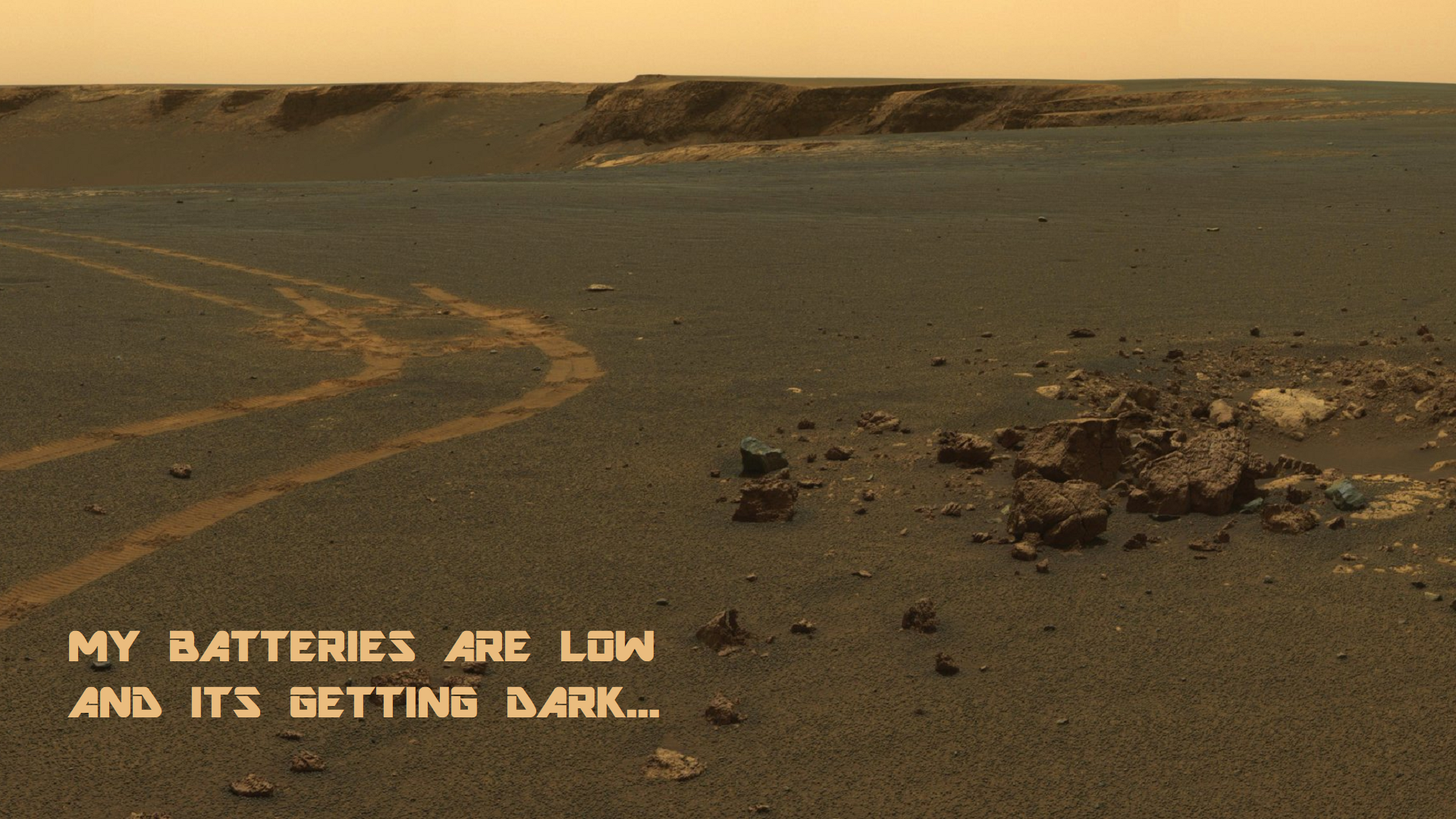 The last words Opportunity sent wallpapers 1920x1080