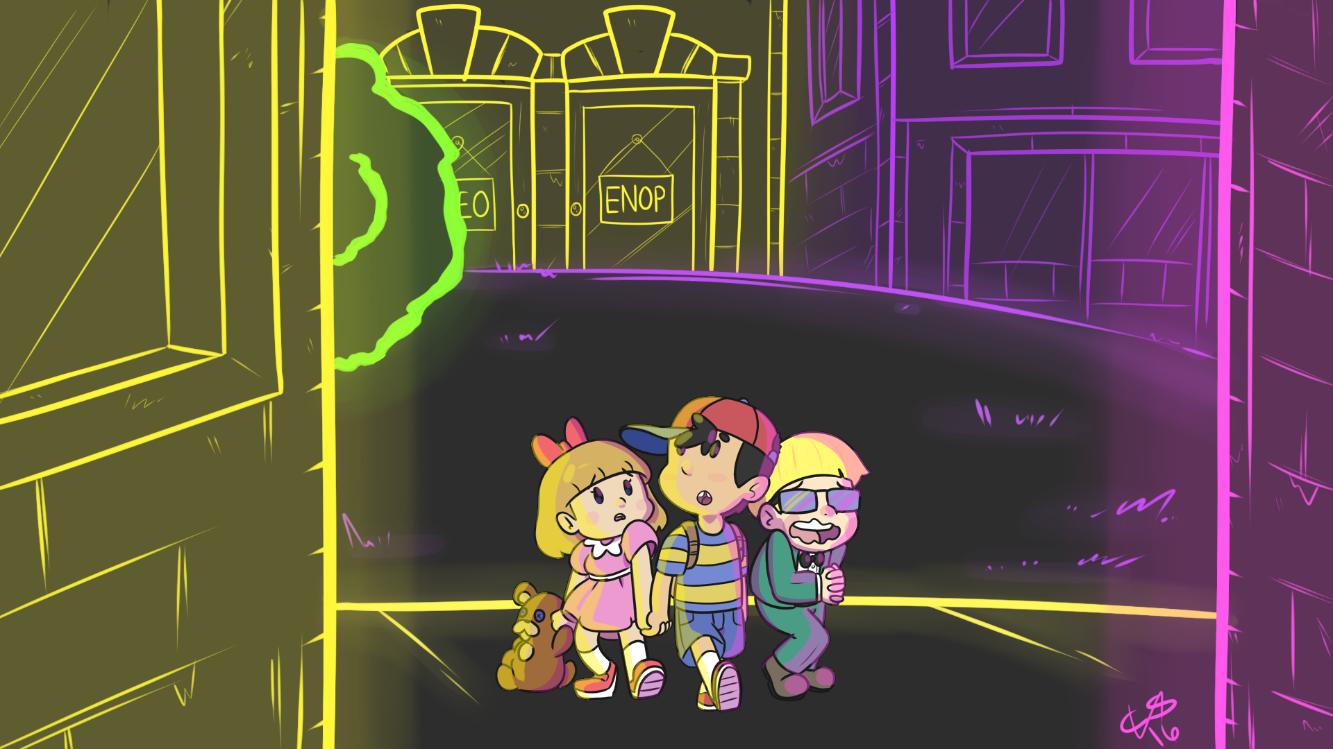 Welcome to Moonside by MegatonSlater on Newgrounds 1920x1080