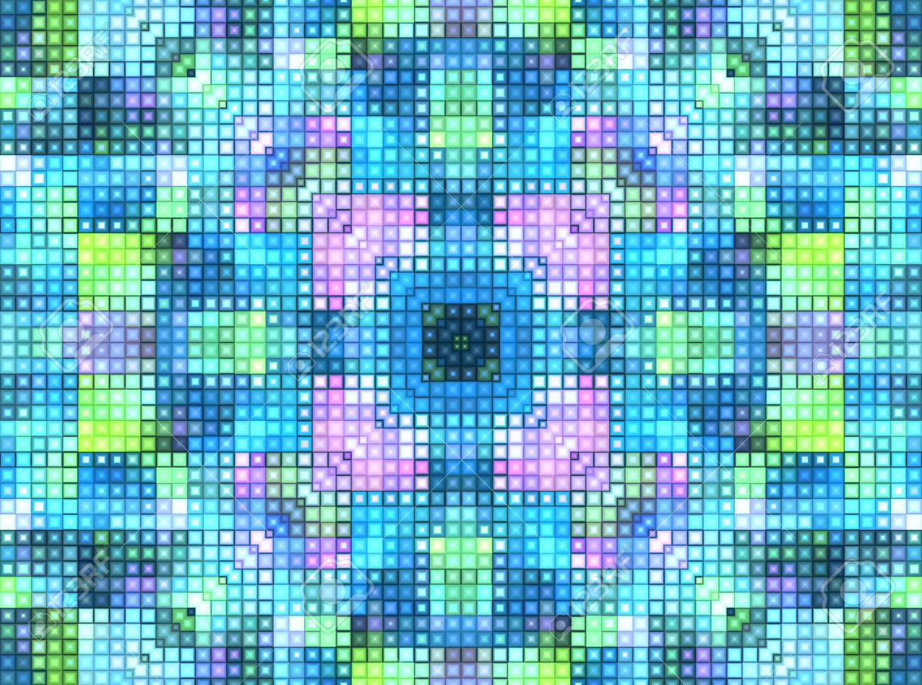 Bright Motley Background With Mosaic Pattern Stock Photo Picture 1300x967