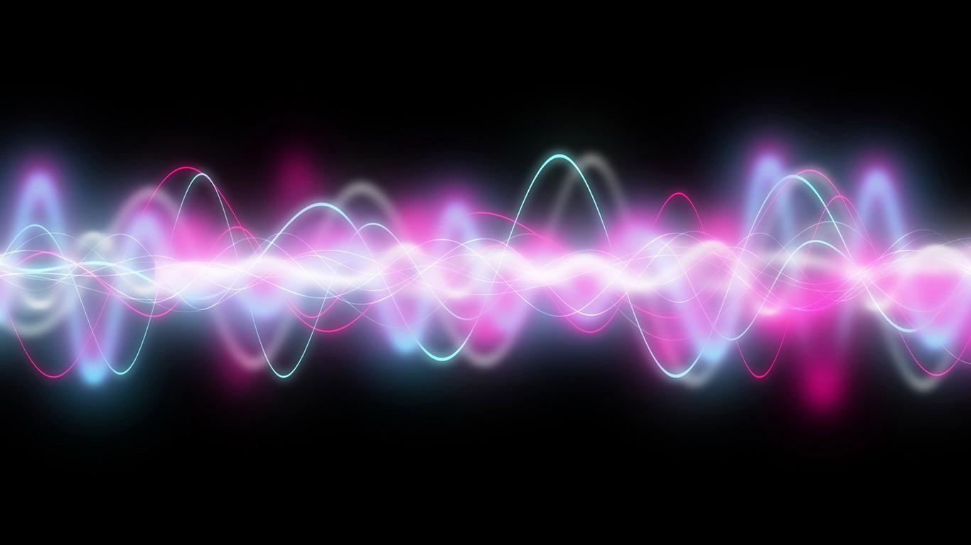 Sound waves wallpaper 174 1366x768