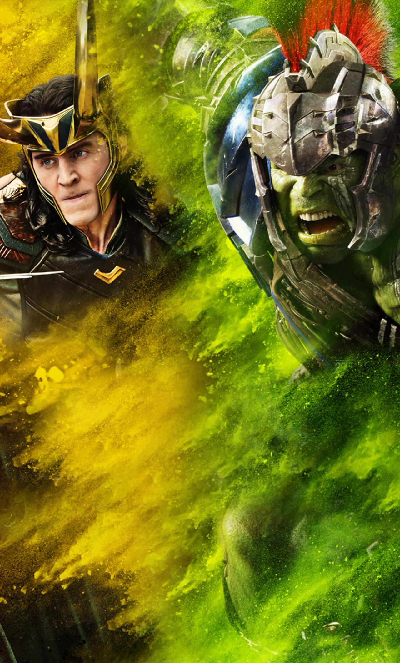 Free Download Thor Loki Hulk Thor Ragnarok Full Hd 2k