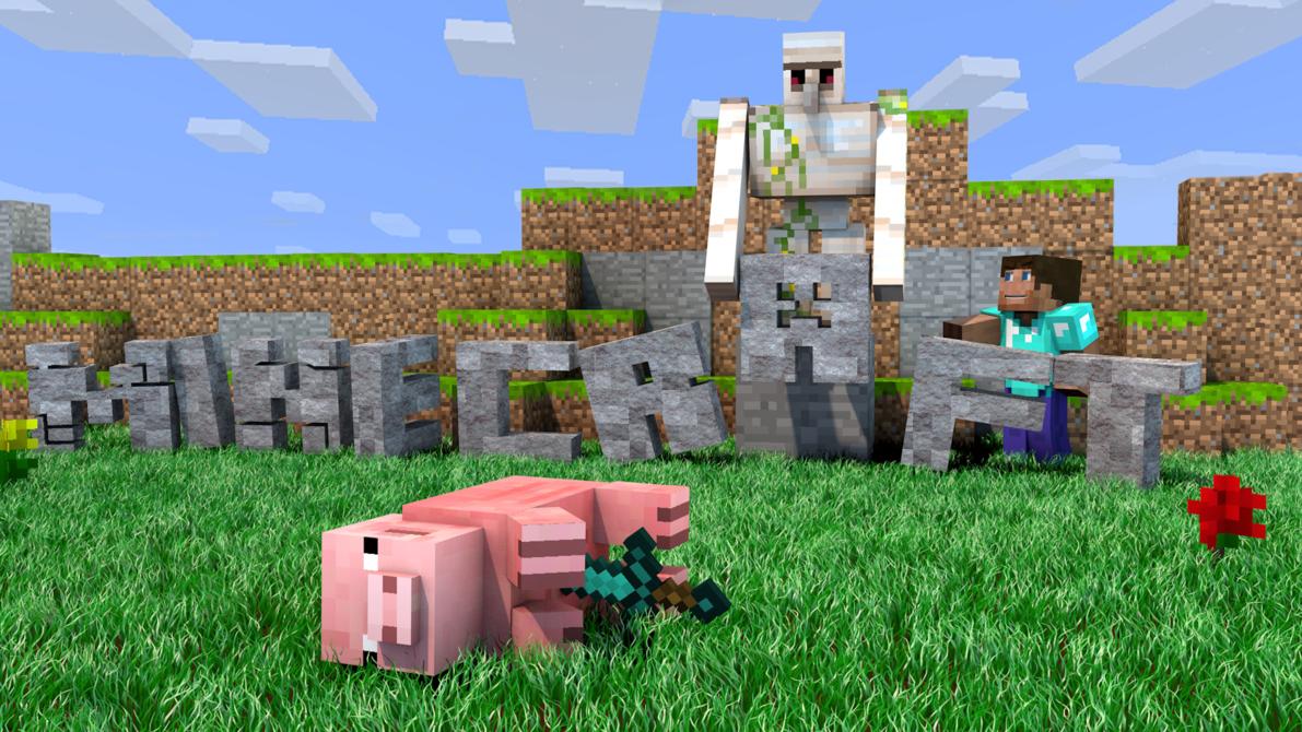Free Download Minecraft Wallpaper Murdered Pig 1920x1080