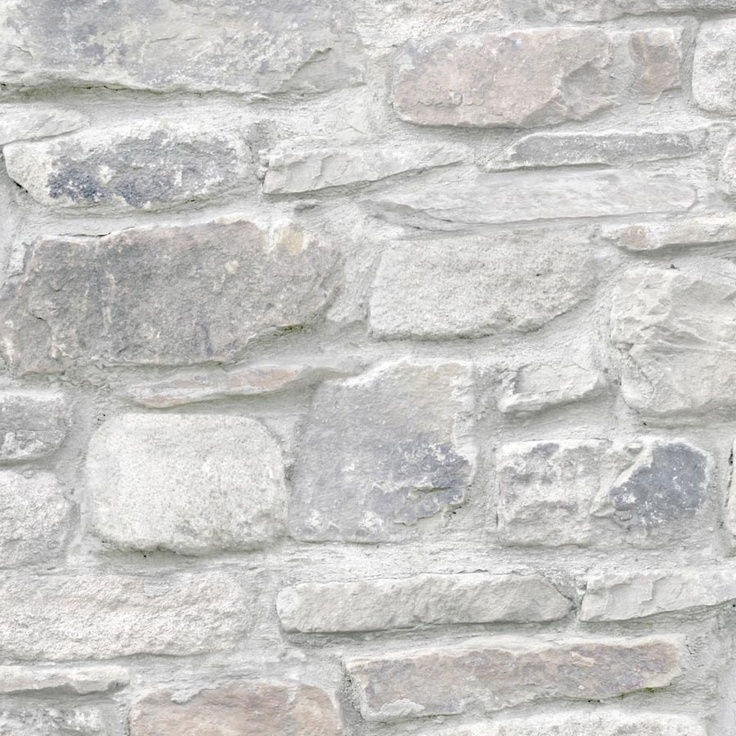 stone effect wallpaper Exposed walls Pinterest 736x736