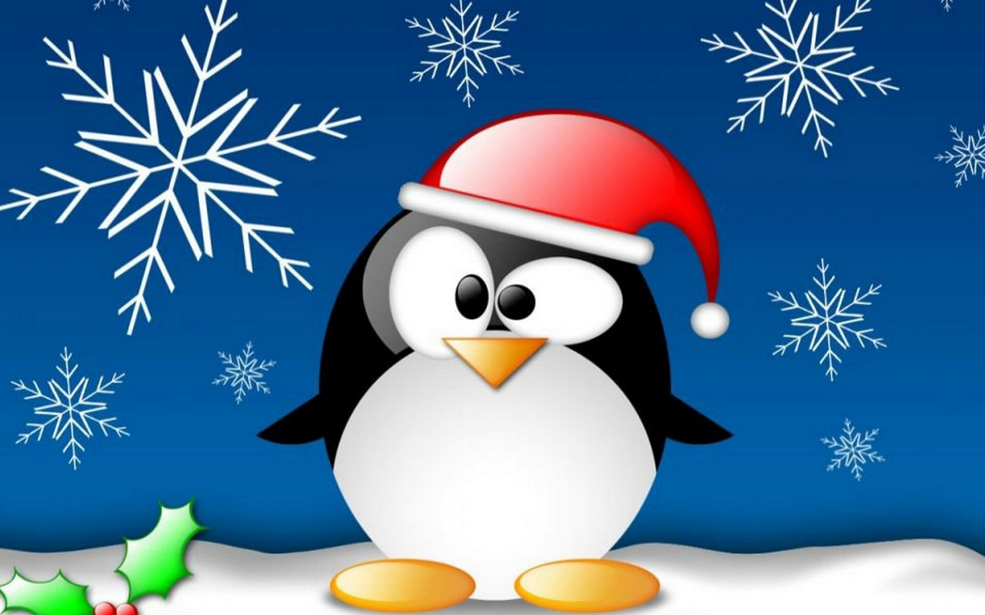 penguin on Christmas wallpapers and images   wallpapers pictures 1920x1200