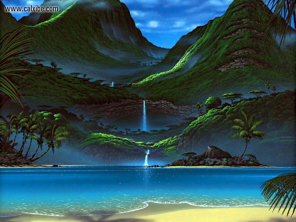 tropical ocean scenery wallpaper wallpapersafari. Black Bedroom Furniture Sets. Home Design Ideas