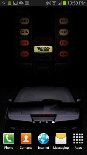 Checkout the cool Knight Rider Kitt Live Wallpaper featuring the black 288x512
