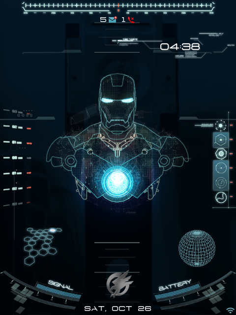 OS7] Animated Jarvis Theme Blackberry Theme Wallpapers 480x640