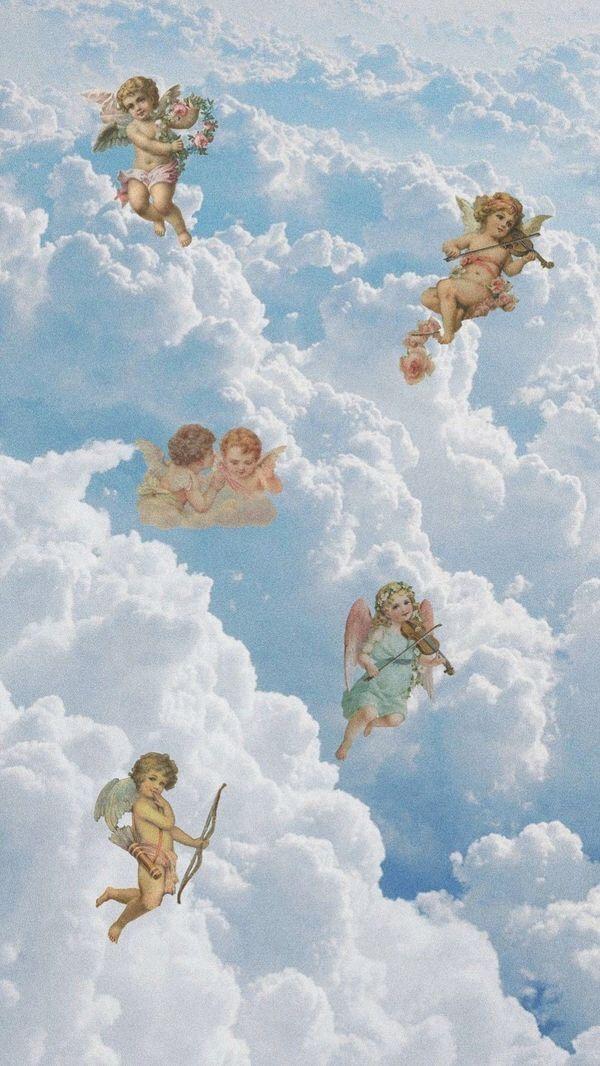 Angel Babies Iphone wallpaper vintage Angel wallpaper Art 600x1066