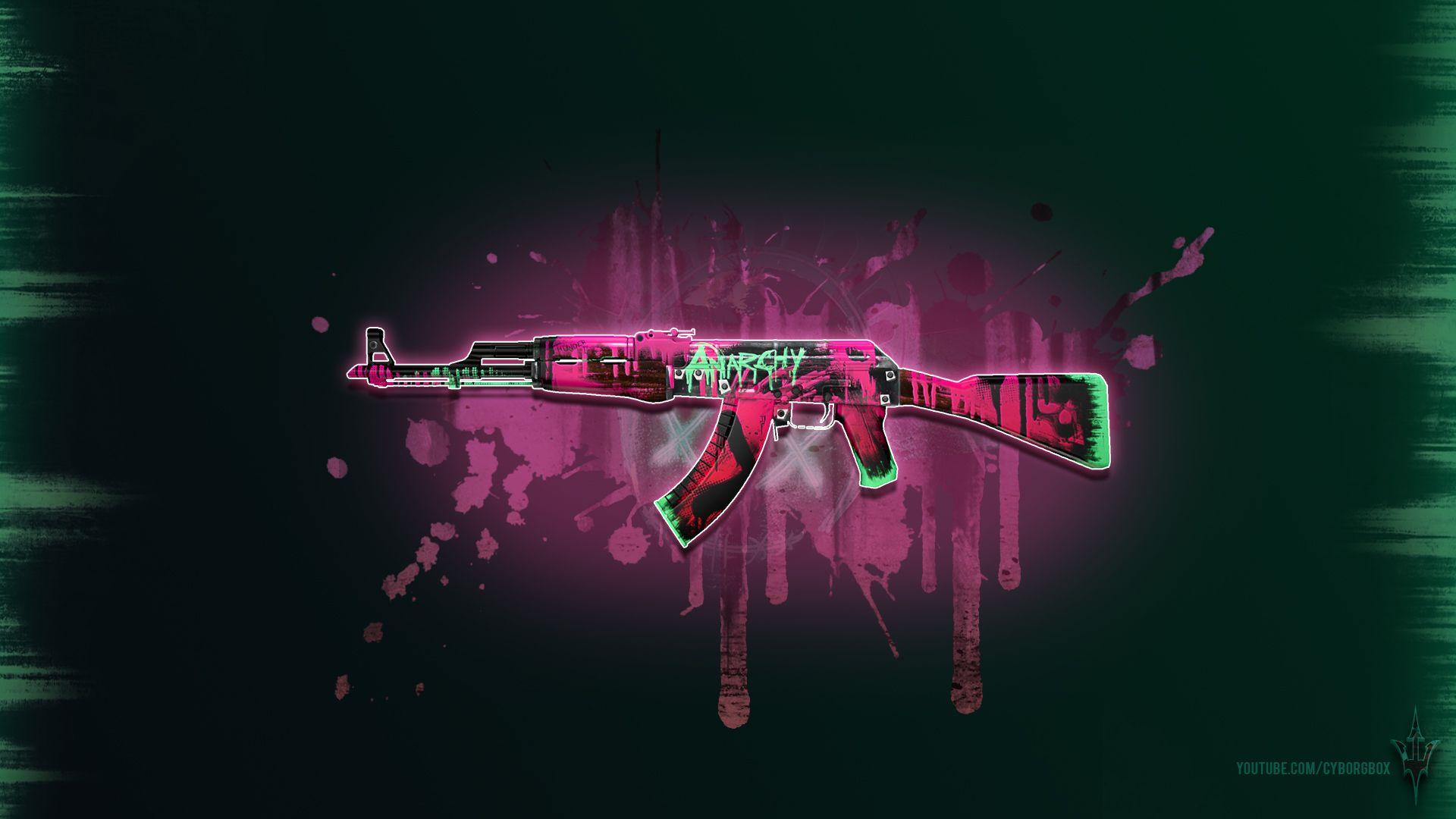 CSGO AK 47 Neon Revolution Wallpaper 1080p Weed Go wallpaper 1920x1080