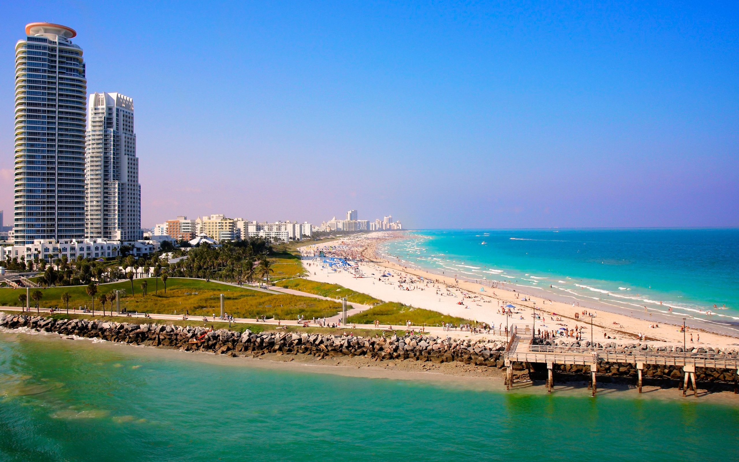 Miami Beach Florida City Wallpaper Widescreen 2560x1600