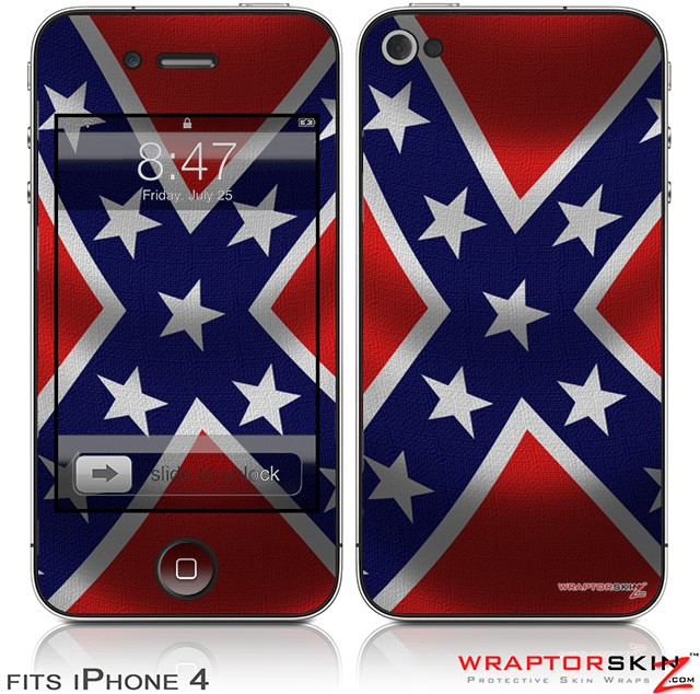 Rebel Flag Wallpaper For Iphone Iphone 4 skin   confederate 640x634