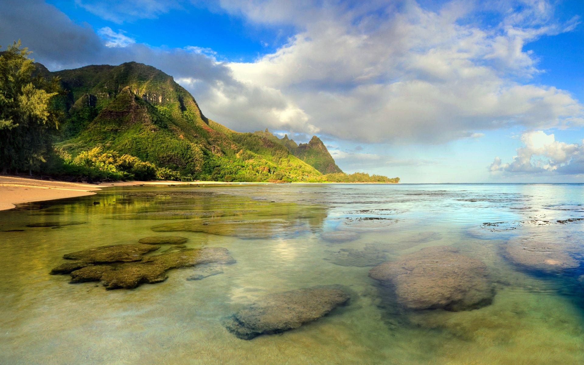 Tunnels Beach Kauai Hawaii HD Wallpaper Background Image 1920x1200